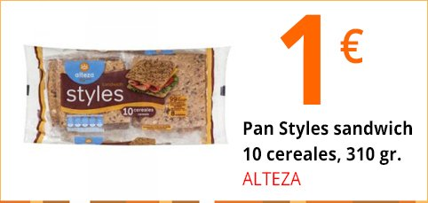 Pan Styles Alteza 10 cereales 310 gr.